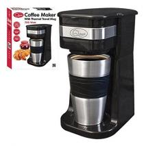 Quest 35180 Benross One Cup Filter Coffee Maker with Travel Mug and Lid, 220 VOLTS NOT FOR USA