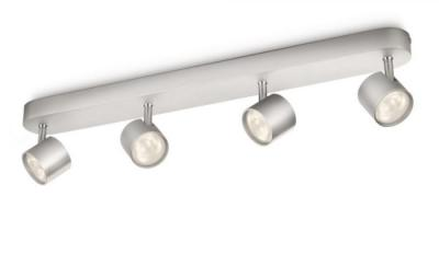 Philips 915004146601 MyLiving Star 4 Bar Spotlight Ceiling Light  - Aluminium 220 VOLTS NOT FOR USA