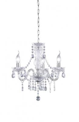 Reality Lights R11073000 Chandelier 3-flames / from acrylic in clear / 3x E14 max. 40 W without bulb 220 VOLTS NOT FOR USA