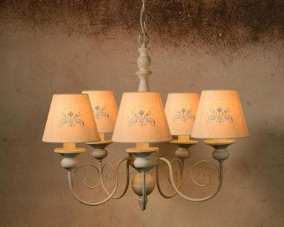 Lucide ROBIN 71336/05/41 - chandelier - Ø 48 cm - taupe 220 VOLTS NOT FOR USA