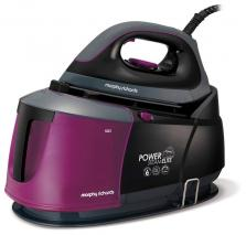Morphy Richards 332012 Power Steam Elite Steam Generator with Auto Clean and Safety Lock - Mulberry/Black 220 VOTLS NOT FOR USA