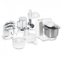 Bosch MUM4880 food processor (600 watt, stainless steel mixing bowl, continuous shredder, meat grinder, juicer) white 220 VOLTS NOT FOR USA