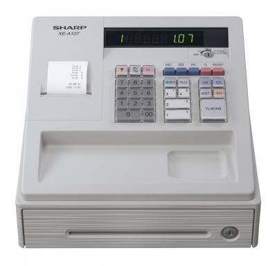 Sharp XEA107W Cash Register - White 220 Volts NOT FOR USA