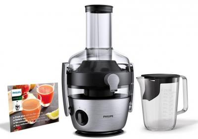 Philips HR1921 / 20 juicer (1100 W, FiberBoost, QuickClean technology, pre-wash function) stainless steel 220 VOLTS NOT FOR USA