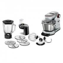 Bosch MUM9DT5S41 Optimum. Plus Food Processor, Stainless Steel Mixing Bowl, 7 settings 1500 W/Platinum Silver 220 VOLTS NOT USA
