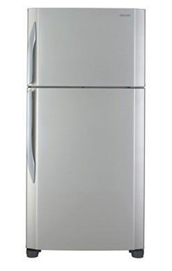 Sharp SJ-KT63R 2-Door Classic Refrigerator 220 Volts (SILVER STAINLESS) NOT FOR USA