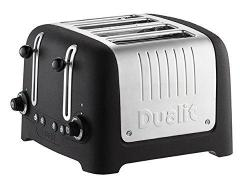 Dualit 46294 Lite Stoneware Basalt Finish Lite Range 4-Slot Toaster, Black 220-240 Volts NOT FOR USA