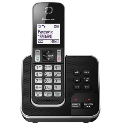 Panasonic TGD320EB Wireless Phone Building with Nuisance Call Blocker and Digital Answering Machine (Pack of 1)  220 Volts