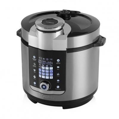 Tower T16012 Digital Multi-Pot Pressure Cooker, 24 Hour Keep Warm Function, 1000 Watt, Silver 220 VOLTS NOT FOR USA