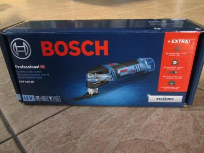 Bosch Professional 06018B5000 GOP 28 Multi-Cutter, 2x 2.5 Ah 12 V Battery, Fast Charger and Accessories in Box 220 VOLTS (NOT FOR USA)