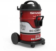 Sharp EC-CA2121-Z 220 Volt Drum Shop Vacuum, 21 Liters (Red)