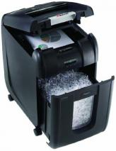 Rexel Auto+ 200X Cross Cut Paper/CD/Credit Card Shredder with 200 Sheet Capacity - Black 220 VOLTS NOT FOR USA
