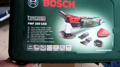 Bosch PMF 350 CES Multifunctional Tool  (3x Saw Blades, Sanding Plate, 6x Sandpaper, Case, for Starlock and Starlock Plus Accessories, 350 Watt) 220 VOLTS NOT FOR USA