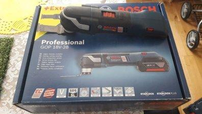 Bosch GOP 18 V-28 Professional Rechargeable Battery Multifunction Tool  without battery, L-BOXX 136 220 VOLTS NOT FOR USA