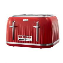 Breville VTT783 Red Color Impression Collection Toaster - 4 Slice Capacity - Reheat, Defrost, and Cancel Function - Variable Beowning Control - 220-240 Volt 50 Hz - To Use Outside North America!!