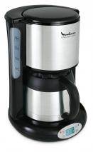 Moulinex FT3628 Thermo Digital Timer Subito coffee machine, 4 programs, 0.9 Litre Thermal Jug, Stainless Steel/Matt Black 220 volts NOT FOR USA