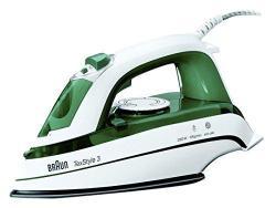 Braun TS345 Iron, 2000 Watt, White/ Green 220V NOT FOR USA