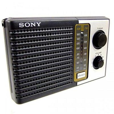 Sony ICF-F10 Two 2 Band FM/AM Portable Battery Transistor Radio NOT FOR USA