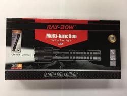 Ray-Bow RB-312 200-Lumens Multi-Function Tactical Rechargeable LED Flashlight + 1 Led Penlight, 100-240V NOT FOR USA