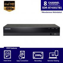 SAMSUNG SDR-B74301-1TB - 8CH HD DVR FROM SDH-B74041 (REFURBISHED)