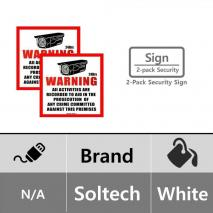 SOLTECH STS-SIGN02 CCTV WARNING SECURITY SURVEILLANCE SIGN 2 PIECES