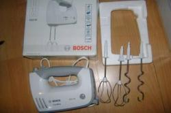 Bosch hand mixer MFQ 36400, white-gray 450 watts, 5 speed levels 220 Volts NOT FOR USA