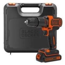 BLACK+DECKER 18 V Lithium-Ion Drill Driver with Kit Box and 2 Batteries 220 Volts NOT FOR USA