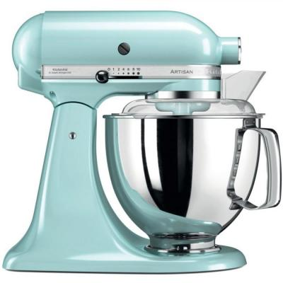 KitchenAid Artisan 5KSM175PSEIC 5 Qt.Stand Mixer Ice Blue with TWO Bowls & Flex Edge Beater 220 VOLTS NOT FOR USA