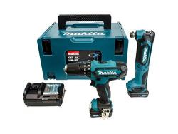Makita CLX203AJX1  2 Piece Kit Comprising Combi Drill, Multi Tool, Accessories in a Makpac Case 220 VOLTS NOT FOR USA