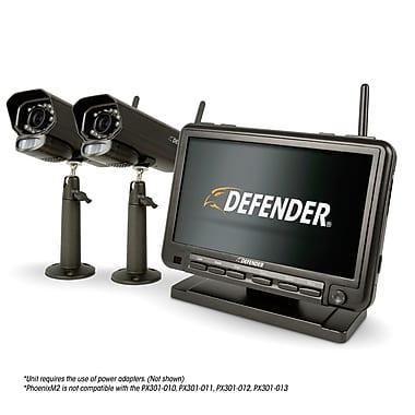 "Defender® PHOENIXM2 Digital Wireless Security System with 7"" LCD Monitor and 2 Long Range Night Vision Cameras 110-220 VOLTS"