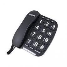 Benross 44570 Jumbo Big Button Home Telephone - Black 220 VOLTS NOT FOR USA