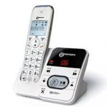 Geemarc Amplidect295 Amplified Cordless Telephone with Answering Machine and CID - White- 220 VOLTS NOT FOR USA