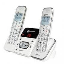 Geemarc Amplidect295 TWIN PACK -Amplified Cordless Twinpack Telephones 220 VOLTS NOT FOR USA
