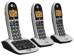 BT 4600 Big Button Advanced Call Blocker Cordless Home Phone  (Trio Handset Pack) 220 VOLTS NOT FOR USA