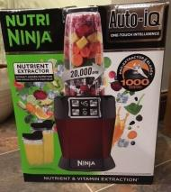 Nutri Ninja 1000W Blender with Auto-iQ - BL480UKMR - Red 220-240 Volts NOT FOR USA