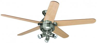 Hunter 24091  Lemoyne Fan in Brushed Nickel 220-240 Volts NOT FOR USA