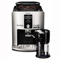 Krups EA82FD Framer 'Espress Quattro Force with Aluminum Front One Touch Coffee Machine, Milk Container, 1.7 Liter, 15 Bar, 1450W, Aluminum / Black  (220-240 VOLTS  NOT FOR USA)