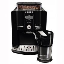 Krups EA82FD Framer 'espress Quattro Force with Aluminium Front One Touch Coffee Machine, Milk Container, 1.7 Litre, 15 Bar, 1450 Watt, Aluminium/Black, black  (220-240 VOLTS  NOT FOR USA)