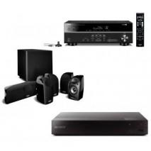 Polk Audio TL1600 Home Theater System Blu-ray & Receiver Combo Package 110-240 VOLTS