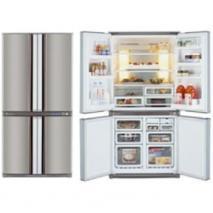 Sharp LC-F70PE-SL 220 Volts 25 cu. ft. Stainless Steel 4 Door Refrigerator Bottom Freezer 220/240 Volts NOT FOR USA