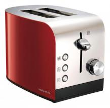 Morphy Richards 222053 Equip 2 Slice Toaster Two Slice Toaster - chrome/Red 220 VOLTS NOT FOR USA