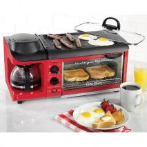 Nostalgia BSET300RETRORED Retro Series 3-in-1 Breakfast Station 110 VOLTS (ONLY FOR USA)