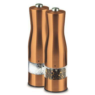 Kalorik PPG 43352 CP Copper Electric Salt and Pepper Mills 110 VOLTS (ONLY FOR USA)