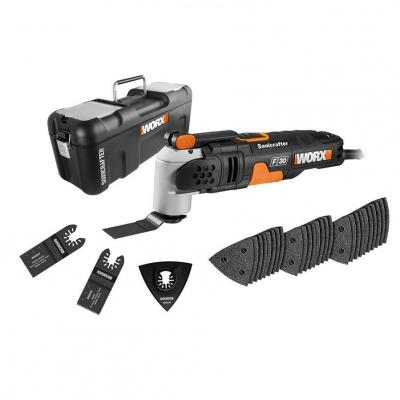 WORX WX680 F30 350W Sonicrafter Multi-Tool Oscillating Tool with 29 Accessories 220-240 Volts NOT FOR USA