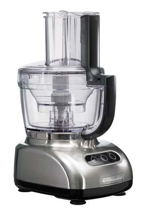 kitchenaid 5kfpm770enk artisan food processor - brush nickel | 220