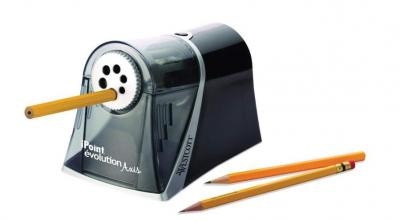Westcott iPoint Axis E-15510 00 Electrical Pencil Sharpener with Auto Stop Grey/Black 220-240 Volts NOT FOR USA