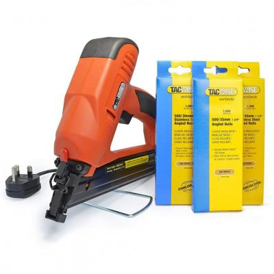 Tacwise 1286 Tacwise 400ELS Angled Electric Nail Gun and Stainless Steel Nail Bundle Kit 220-240 Volts NOT FOR USA