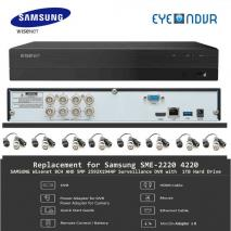 SAMSUNG Replacement for SDE-4001 SDE-4002 5MP 8CH DVR SDR-843031T -RJ45X8 220 VOLTS NOT FOR USA
