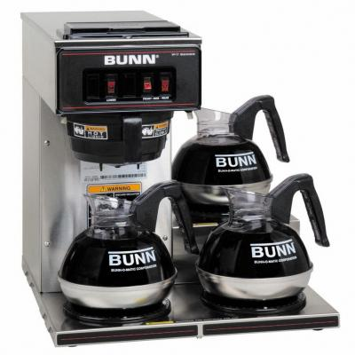 Bunn VP17-3 Commercial Pourover Brewer with 3 warmers 110 volts only for USA
