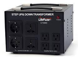 LiteFuze LT-5000 5000 Watt Voltage Converter Transformer - Step Up/Down - 110V/220V